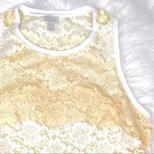 LOGO Lori Goldstein lace tank top, 20W